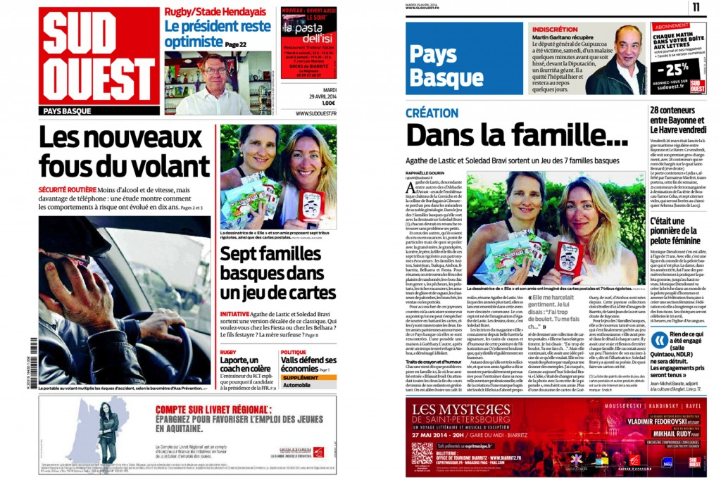 le jeu des 7 familles basques dans Sud Ouest