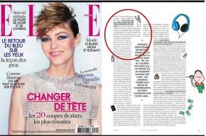 Magazine ELLE France Alix Girod de l'Ain