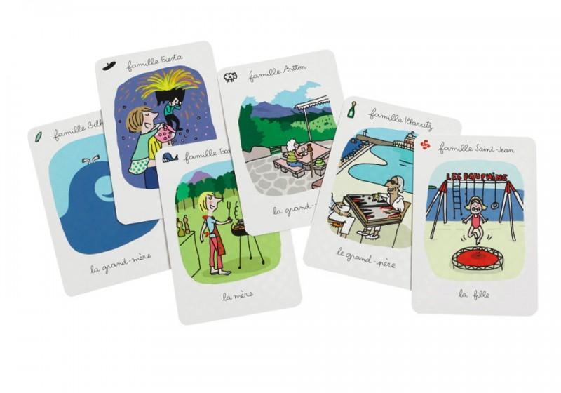 Cartes du jeu des 7 familles basques