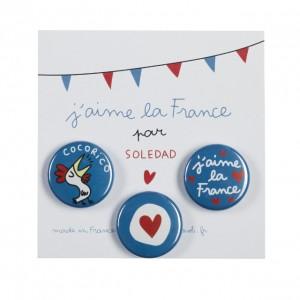 Snob pin's j'aime la France